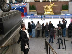 Me at Rock Center Ice Rink from Sunny