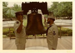 Billy Taking Navy Oath